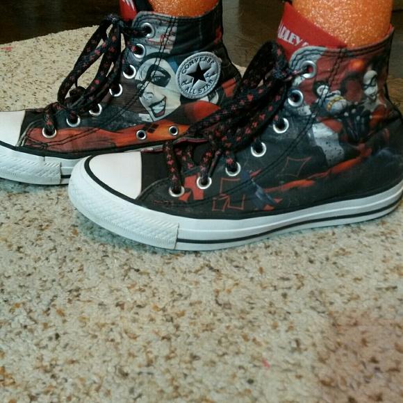 2200a5e4ab67 converse Shoes - Harley Quinn converse hi-tops